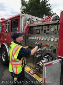 Firefighter Lehuquet learning how to draft